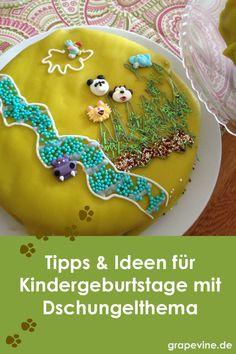Tipps & Ideen für Kindergeburtstag mit Dschungelthema!  #kindergeburtstag #geburtstag #torte #dschungel