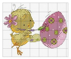 Cross Stitch *<3* Easter Cupcake Cross Stitch, Mini Cross Stitch, Cross Stitch Animals, Counted Cross Stitch Patterns, Cross Stitch Charts, Cross Stitch Designs, Cross Stitch Embroidery, Quilt Stitching, Cross Stitching