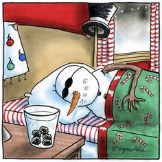 In case you ever wonderd what old snowmen do at night.