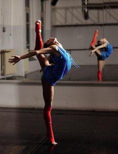 Bailarina en el espejo
