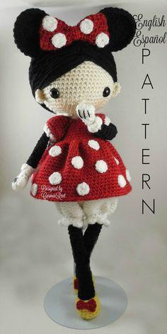 Minnie Amigurumi Doll Crochet Pattern PDF by CarmenRent on Etsy