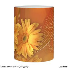 Shop Gold Flowers Flameless Candle created by Cool_Shopping. Flower Patterns, Flower Designs, Customized Gifts, Custom Gifts, Different Flowers, Gold Flowers, Chrysanthemum, Unique Gifts, Candles