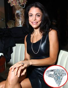Bethenny Frankel got a Kristen Farrell 6.5-carat pear-shaped ring worth about $150,000 from real estate beau Jason Hoppy in October 2009.
