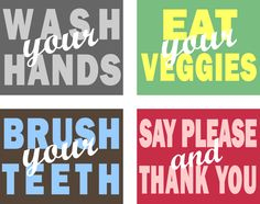 House rules prints - kitchen or bathroom!