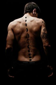 Moon Phases Spine Tattoo More