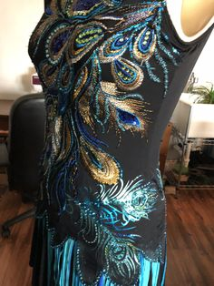Custom peacock dress by Beat Designs. Peacock Dress, Beats, Artwork, Dresses, Design, Vestidos, Work Of Art, Auguste Rodin Artwork