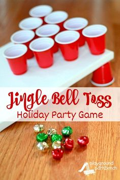 Party Games - Jingle Bell Toss Holiday Party Games - Jingle Bell Toss - fun game to play with kids on Christmas!Holiday Party Games - Jingle Bell Toss - fun game to play with kids on Christmas! Xmas Games, Holiday Games, Kids Party Games, Holiday Parties, Holiday Fun, Preschool Christmas Games, Christmas Games For Preschoolers, Games To Play With Kids, Kindergarten Christmas