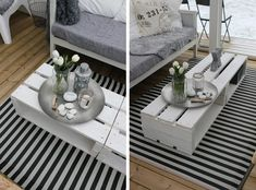 DIY: crate coffee table