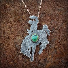 Sterling silver bucking horse pendant by Silo Silver