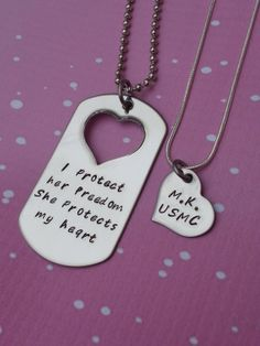 Custom Hand Stamped Matching Necklace Set  I by StampedWithPassion, $37.50