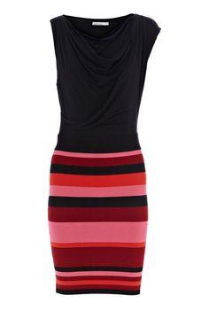 Karen Millen Colourblock bandage dress pink multi - suit-dresses.com - $89.34
