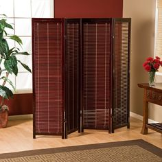 Tranquility Wooden Shutter Room Divider | from hayneedle.com
