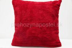 Červené dekoračné obliečky na vankúše