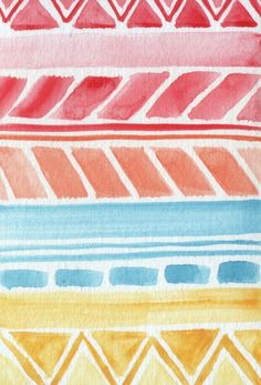 color and pattern.  (watercolor | Allison Kunath)