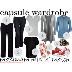 Get more re-wear from your outfits with this capsule wardrobe designed for maximum mixing 'n' matching. #outfitideas #capsulewardrobe [http://www.franticbutfabulous.com/2013/11/08/capsule-wardrobe-basics-maximum-outfit-re-use/]