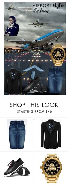 """""""Sydney Airport Style"""" by przemek-krupa ❤ liked on Polyvore featuring Armani Jeans, Alexander McQueen, Nixon, Yves Saint Laurent, men's fashion and menswear"""