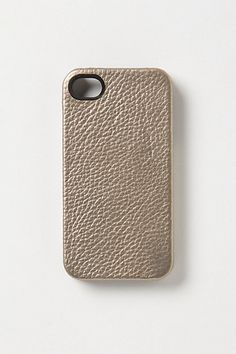 Metallic Leather iPhone Case from Anthropologie - $38.00 - Perfectttt if I wind up getting an iPhone soon.