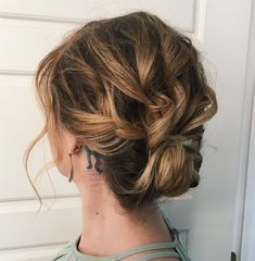 Curly Pinned Updo for Shorter Hair