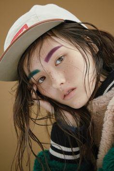 koreanmodel:  Kim Yong Ji by Hwang Hye Jeong for Singles Korea Dec 2015
