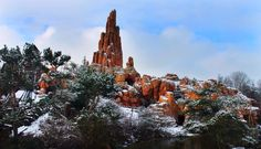 Na Walt Disney Paris!! Paisagem de neve épica!!!