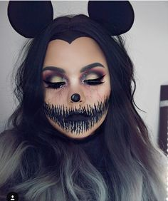 A amazing idea for a Halloween face. just gave me one A amazing idea for a Halloween face. just gave me one The post A amazing idea for a Halloween face. just gave me one appeared first on Halloween Makeup. Looks Halloween, Minnie Mouse Halloween, Cute Halloween Makeup, Scary Halloween, Mickey Mouse, Halloween Costumes, Minnie Mouse Costume, Maquillage Halloween Simple, Helloween Make Up