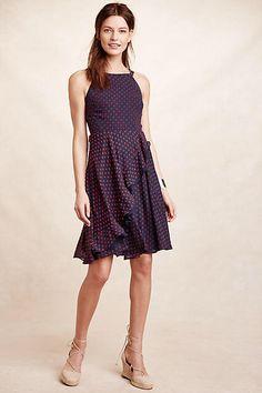Eva Franco Ruffled Clipdot Dress