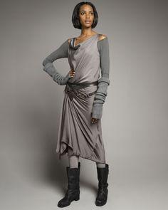 Sport Draped Dress by Donna Karan at Neiman Marcus. I WANT THIS DRESS!
