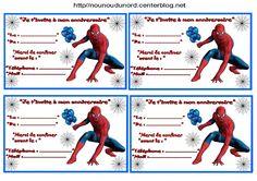 Anniversaire :  Etiquettes invitations Spiderman pour  http://nounoudunord.centerblog.net/rub-activite-anniversaire-etiquettes-.html
