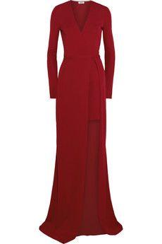 Issa Antonia split stretch-crepe wrap maxi dress | THE OUTNET