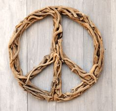 Sugarboo Driftwood Peace Sign--Available in small and large sizes at Wabi Sabi Home,