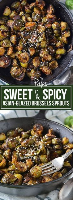 SWEET AND SPICY ASIAN-GLAZED BRUSSELS SPROUTS