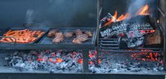 The Gaucho Grill, grilling beef and charring carrots on the griddle