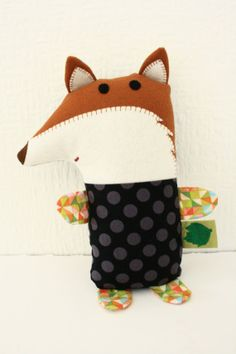 Fox soft toy by Friends in the Leaves on Etsy