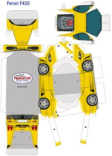 paper car craft | SP. Papel Modelismo: PaperCraft - Ferrari F430 amarela