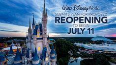 Disney World Reopening To Begin July 11 Upon Approval Walt Disney World, Disney World Resorts, Disney Water Parks, Disney World News, Disney Resort Hotels, Disney Parks Blog, Disney World Restaurants, Disney Vacation Club, Disney Vacations