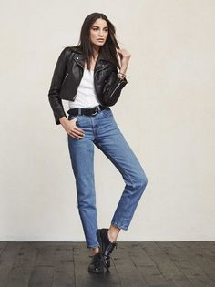 """It's a real power move to wear mom jeans. It says """"I know I'm a babe and don't need skin-tight jeans to prove it"""". https://www.thereformation.com/products/mom-jean-worn-vintage?utm_source=pinterest&utm_medium=organic&utm_campaign=PinterestOwnedPins"""