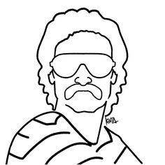 #GiorgioMoroder #portrait #art #illustration #Etude #KENTAUEOKA #69factory #ジョルジオモロダー #ドローイング #ウエオカケンタ