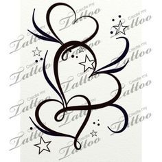 >> Market Tattoo hearts stars and filigree #20764 | CreateMyTattoo.com...