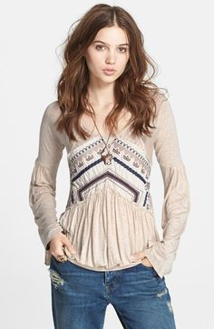 Free+People+'New+World'+Long+Sleeve+Top+available+at+#Nordstrom