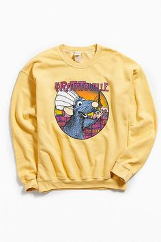 Shop Ratatouille Crew-Neck Sweatshirt at Urban Outfitters today. Cute Disney Outfits, Disney World Outfits, Disney Themed Outfits, Disneyland Outfits, Cute Casual Outfits, Crew Neck Sweatshirt, Graphic Sweatshirt, Disney Shirts, Disney Style
