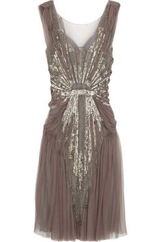 flapper dress...you can really see the Edwardian evolving into the 20's w/this piece! ~Fabulous