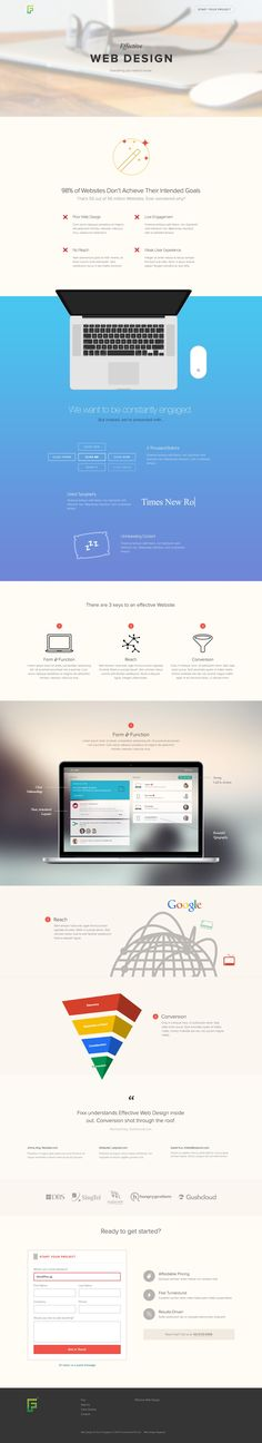 Effective Web Design Microsite by Darren Lee for Fixx