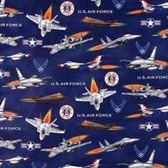 Military US Army Tank Helicoptor Eagle Patriotic Cotton Fabric Sykel By The Yard