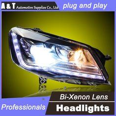 548.10$  Buy here - http://aikzo.worlditems.win/all/product.php?id=32639025314 - car styling For VW BORA headlights U angel eyes DRL 2015 For VW BORA LED light bar DRL Q5 bi xenon lens h7 xenon