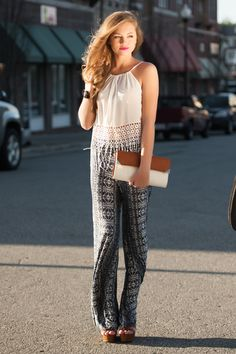 palazzo pants outfit #swoonboutique