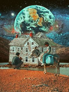 The Harmony Of Life,  Surreal Mixed Media Collage Art By Ayham Jabr.