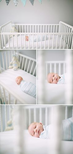 Townsend in his Jenny Lind Crib