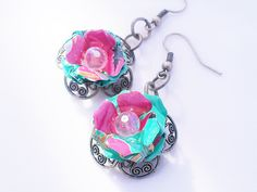 Small Arizona Tea Flower Earrings