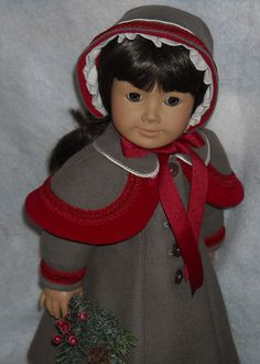 Wool Coat with Capelet and Bonnet for Nellie and Samantha $80