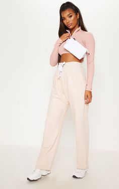f725d8a4ee33 Dusty Pink Drawstring Loose Fit Jogger